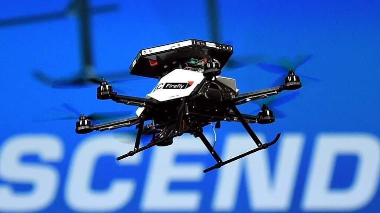 CES 2016 Intel Drone Dodges