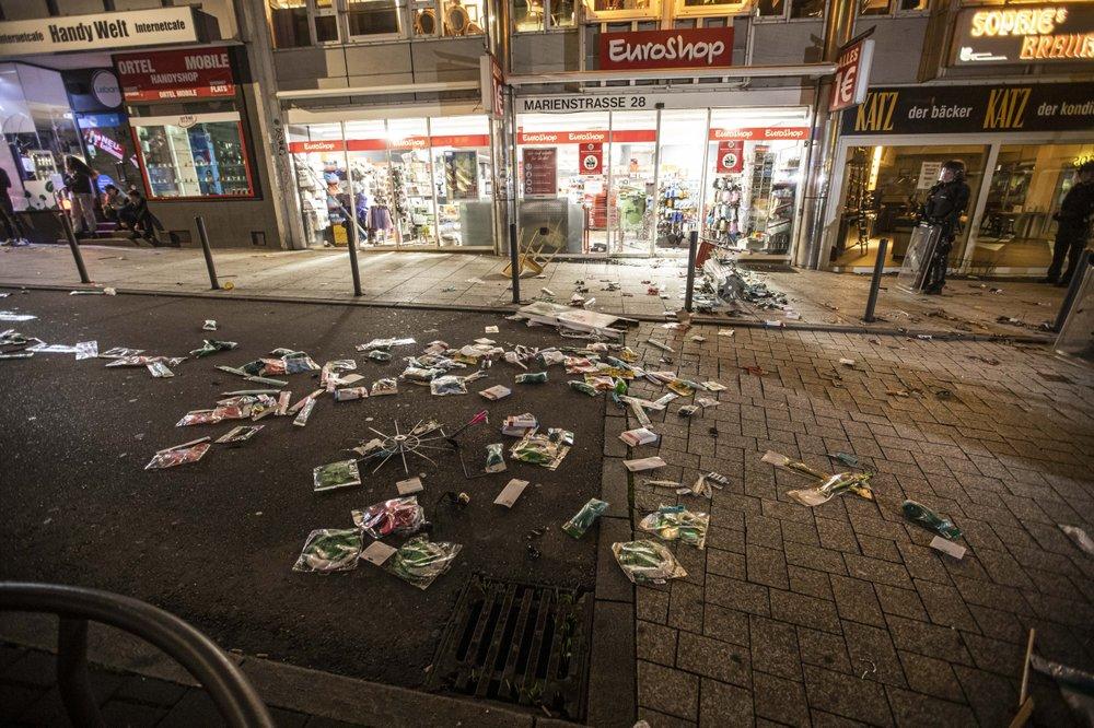 Dozens of violent small groups devastated downtown Stuttgart.