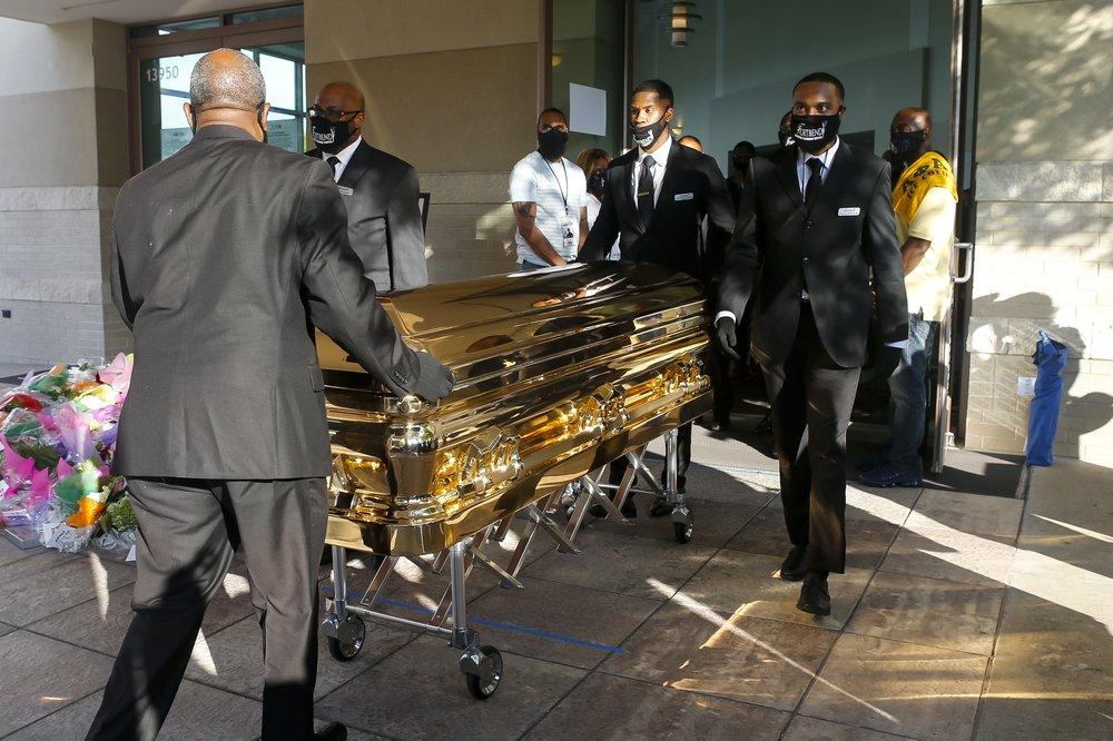 George Floyd's casket
