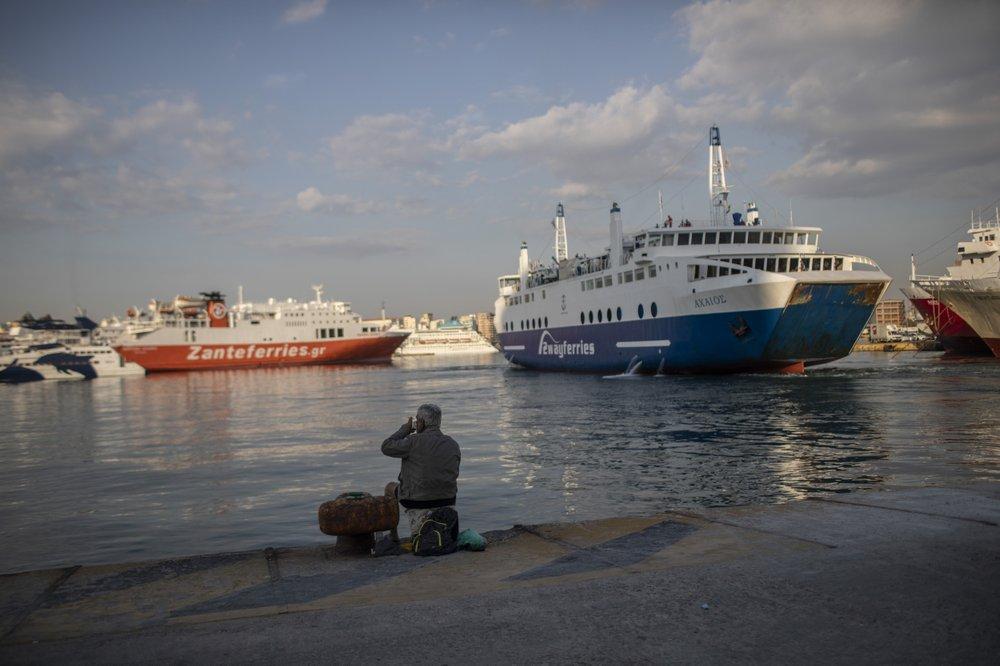 Greece restarted Monday regular ferry services