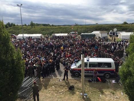 Human Wave Of Refugees Reaches Austria