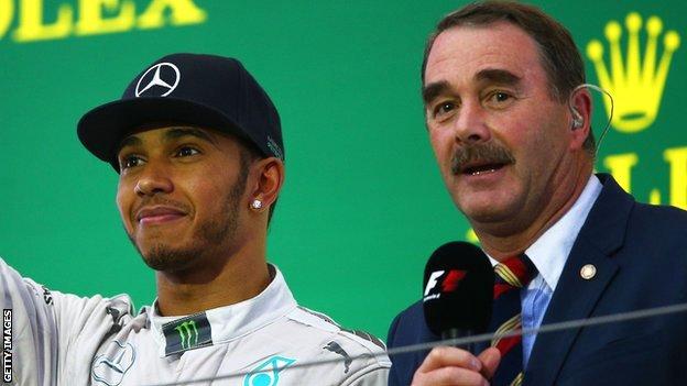 Nigel Mansell surprised