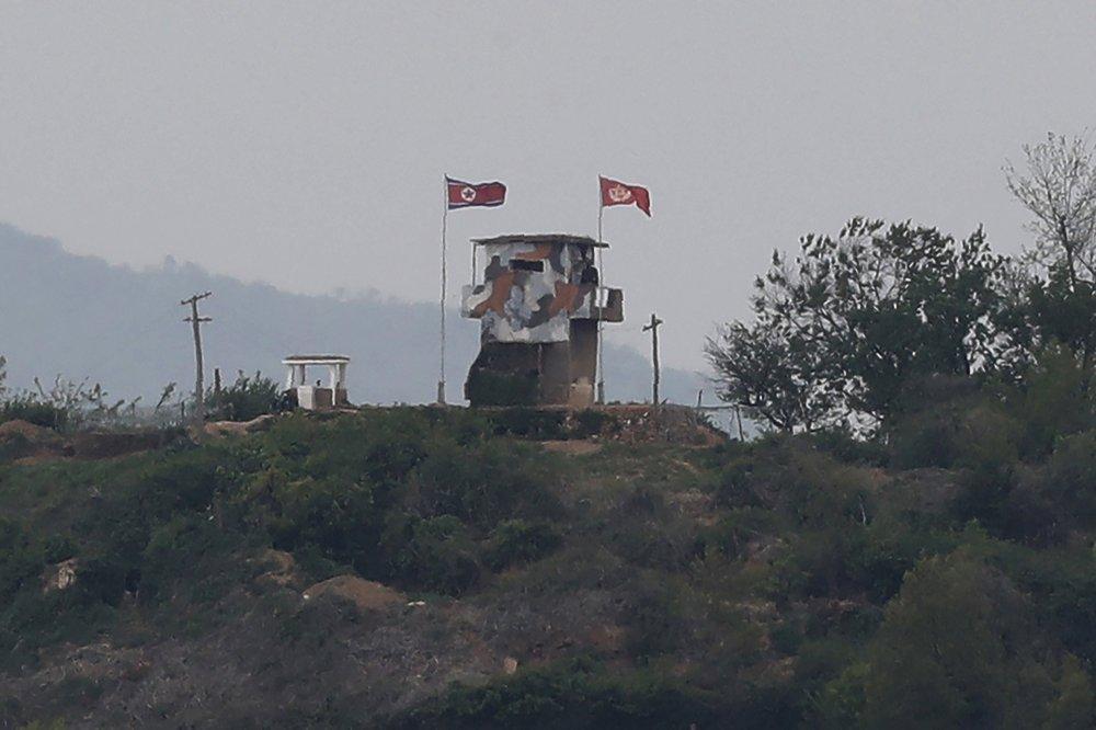 North Korean military guard post in Paju