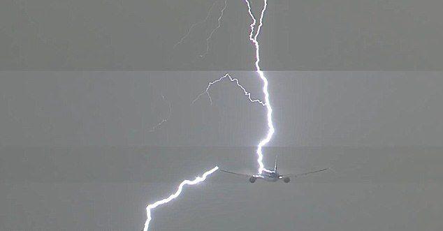 Plane Struck By Lightning