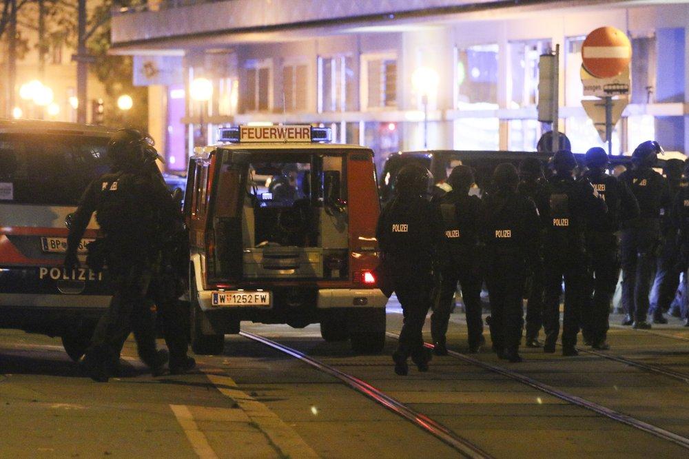 gunfire in the capital Vienna
